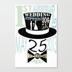 5K WEDDDING RUN Canvas Print