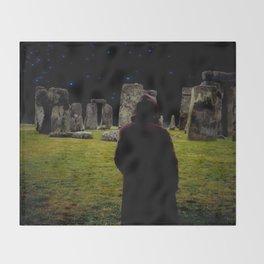 Druid Princess of Stonehenge Throw Blanket