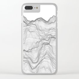 Soft Peaks Clear iPhone Case