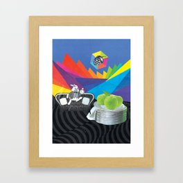 Exactly Two Days Slow Framed Art Print