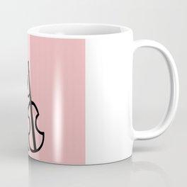 Guitar Figure in Pink Coffee Mug