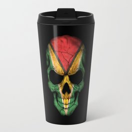 Dark Skull with Flag of Guyana Travel Mug