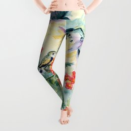 Hummingbirds Secret Garden Leggings