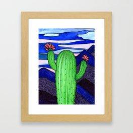 Cactus Sky Framed Art Print