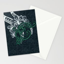 Hawaiin Tribal Turtle Collage Stationery Cards