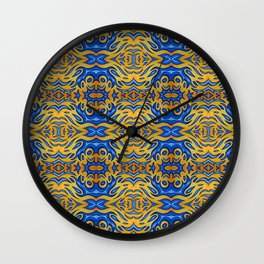 jello blue abstract pattern Wall Clock