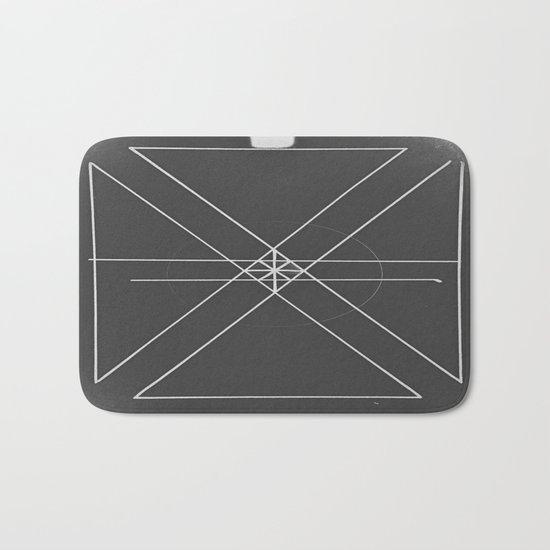 Gray Lines and Crossings Bath Mat