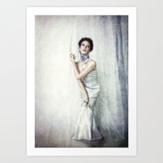 Girl Blue Art Print