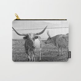 Longhorn Cows Carry-All Pouch