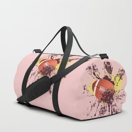 Grunge Rugby ball Duffle Bag