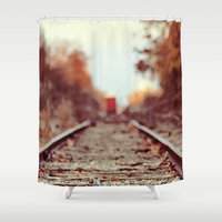 train Shower Curtains featuring Train Song by elle moss