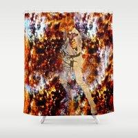 luke hemmings Shower Curtains featuring LUKE by Saundra Myles