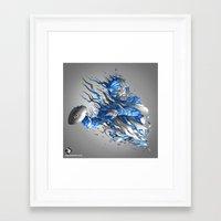 seahawks Framed Art Prints featuring Superbowl XLVIII - Seahawks by The Neuronaut