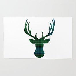 Blue Plaid Deer Rug