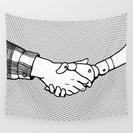 Man and Machine Wall Tapestry