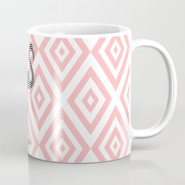 Flamingo - abstract geometric pattern - pink and white. Coffee Mug