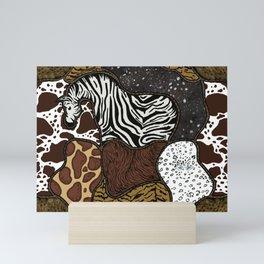 Exotic animal prints Mini Art Print