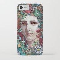 flora iPhone & iPod Cases featuring Flora by Alvaro Arteaga