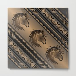 Horse Nation (Brown) Metal Print