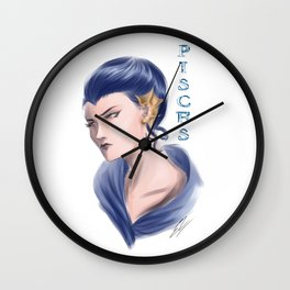 Pisces Sign - Zodiac series by OccultArt Wall Clock