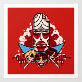Attack on Townsville - Mojo Version Art Print