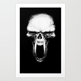 BlackSkull Art Print