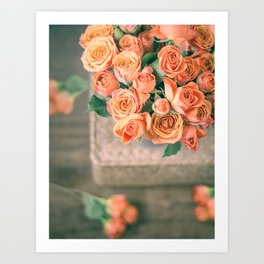 Rosas naranjas Art Print