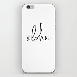 Aloha Hawaii Typography iPhone Skin