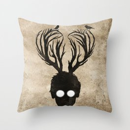 oh deer love Throw Pillow