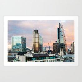 City of London Evening Skyline Art Print
