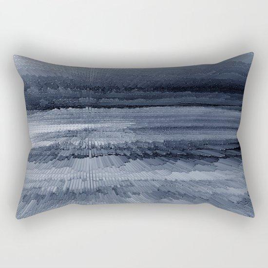 Abstract black painting 2 Rectangular Pillow