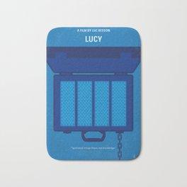 No574 My Lucy minimal movie poster Bath Mat