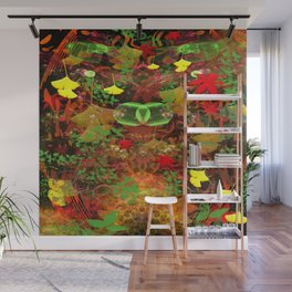 Autumn Leaf Droppings Wall Mural