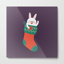 Merry Christmas Human! Metal Print