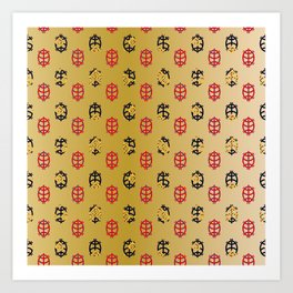 Traditional Japanese pattern KORIN-GAME Art Print