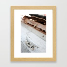 Relax, nobody is going to steal your tank.  Framed Art Print