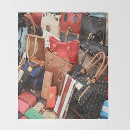 Women's Designer Handbags Throw Blanket