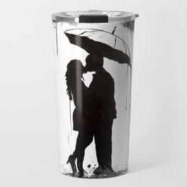Couple, black and white Travel Mug