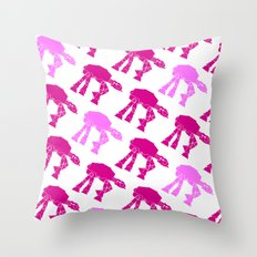 AT-AT's in Pinks Throw Pillow