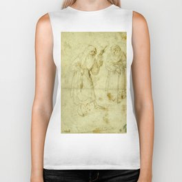 Two witches by Hieronymus Bosch Biker Tank