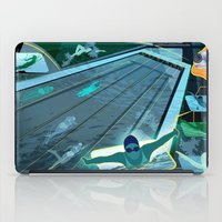 swimming iPad Cases featuring Swimming by Robin Curtiss
