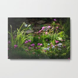 Amongst The Flowers Metal Print