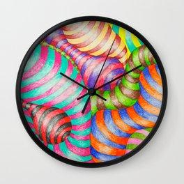 Striped Blobs Wall Clock