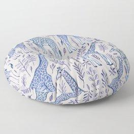 Blue Giraffe Pattern Floor Pillow