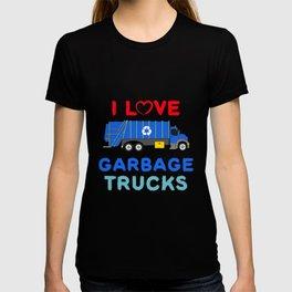 Garbage Truck Shirt Toddler Boy - I Love Garbage Trucks T-shirt