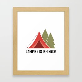 Camping Is In-Tents! Framed Art Print