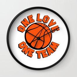 Basketball A love A team Wall Clock