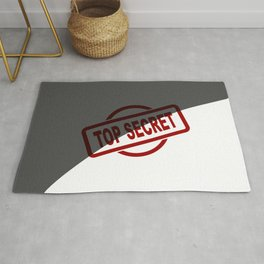 Top Secret Half Covered Ink Stamp Rug
