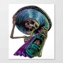 Mexican Skeleton Latin Latinos Cholos Mexico Gift  Canvas Print