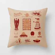Doctor Who | Aliens & Villains Throw Pillow
